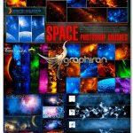 مجموعه ۱۶۴ براش و ۱۵ استایل فتوشاپ فضا Ron's Space Brushes