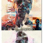 اکشن فتوشاپ نقاشی با پاشیدن رنگ Splatter Paint Photoshop Action