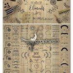 دانلود 200 المان گرافیکی دکوری و تزئینی Decorative Elements