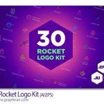 دانلود مجموعه ۳۰ کیت لوگوی موشک Rocket Logo Kit