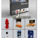 مدل های سه بعدی تجهیزات جاده ها DigitalXModels 3D Models vol3: STREET