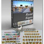دانلود مدل های 3 بعدی علائم راهنمایی رانندگی DigitalXModels Vol.4 ROAD SIGNS