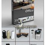 مجموعه مدل های تری دی مکس لوازم اداری DigitalXModels 3D Models vol.6: OFFICE