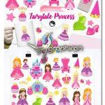 طرح های وکتور و PNG کاراکترهای پرنسس Fairytale Princess Graphics