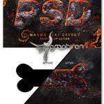 اکشن فتوشاپ ساخت افکت متن ماگما گداخته Magma Text Effect Photoshop Action