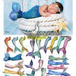 دانلود تصاویر پوششی دم پری دریایی Mermaid Tail Overlays