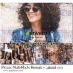 پروژه افتر افکت نمایش عکس موزاییکی Mosaic Multi-Photo Reveals