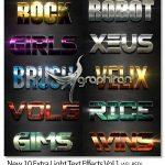 10 استایل فتوشاپ متن های فوق درخشان New 10 Extra Light Text Effects Vol.1