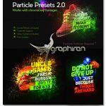 دانلود پروژه آماده افتر افکت پریست افکت ذرات Particle Presets
