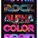 دانلود ۷ استایل فتوشاپ روانگردان رنگارنگ Psychedelic Photoshop Styles