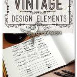 دانلود طرح های گل و بوته تزئینی قدیمی Vintage Calligraphic Design Elements