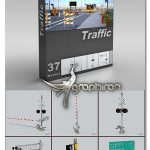 دانلود 37 مدل آماده 3 بعدی لوازم جاده ای DigitalXModels 3D Models Vol.5: TRAFFIC