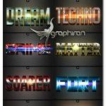 دانلود رایگان پک ۱۰ استایل سه بعدی فتوشاپ ۳D Styles vol.12