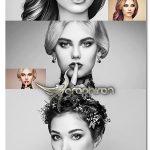 مجموعه ۱۰ اکشن افکت HDR سیاه و سفید HDR B&W Photoshop Action