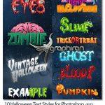 دانلود 10 استایل فتوشاپ هالووین Halloween Text Styles for Photoshop