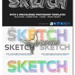 اکشن فتوشاپ تبدیل شکل و متن به طرح ۳ بعدی ۳D Sketcher Photoshop Action