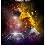 اکشن فتوشاپ انفجار انتزاعی عکس Abstract Explosion Photoshop Action