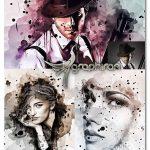 اکشن فتوشاپ نقاشی انتزاعی با جوهر Abstract Ink Art Photoshop Action