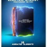 اکشن فتوشاپ انیمیشن برق گرفتگی Animated Electric Energy Photoshop Action