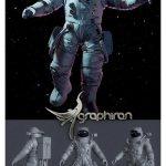 دانلود رایگان مدل تری دی مکس ۳ بعدی فضانورد Astronaut 3D Model