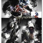 اکشن فتوشاپ افکت های جنگی و دود BattleGround Photoshop Action