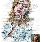 اکشن فتوشاپ ساخت افکت کلمات مجله Journal Photoshop Action