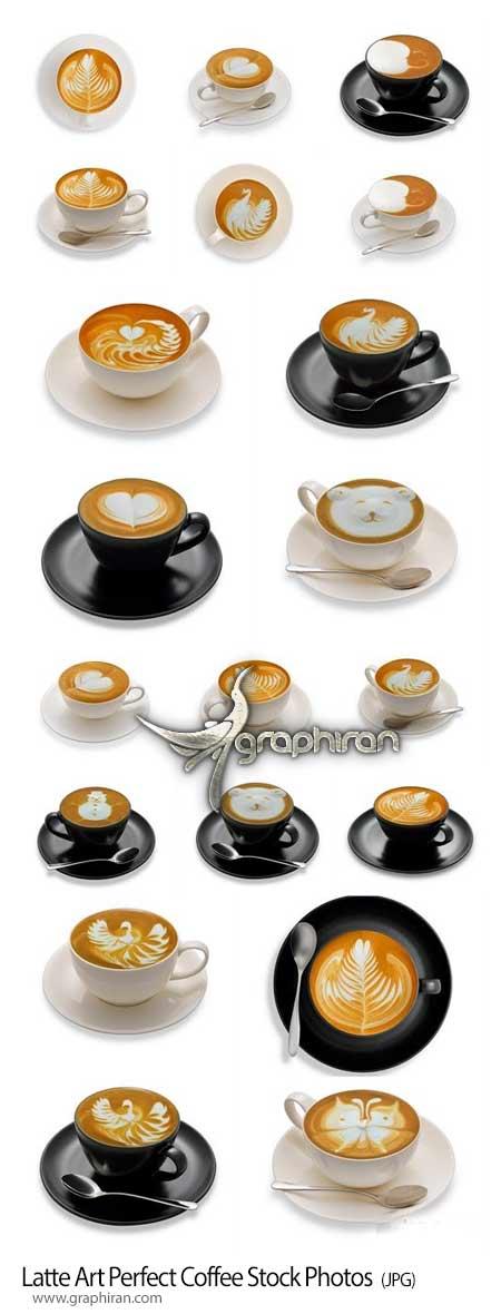 دانلود عکس های استوک قهوه لاته با آرت