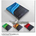 دانلود طرح لایه باز سربرگ آماده فرمت وکتور EPS در 4 رنگ مختلف
