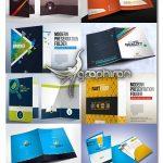 دانلود پک طرح های لایه باز پوشه اداری Presentation Folder Bundle