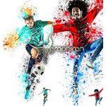 اکشن فتوشاپ هنر ریختن رنگ روی سوژه Splatter Art Photoshop Action