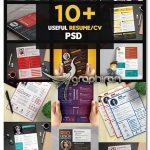 دانلود 14 نمونه طرح رزومه شرکتی و اداری و شخصی PSD لایه باز