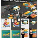 مجموعه المان های اینفوگرافیک آموزشی وکتور Education Infographics Design