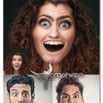 اکشن فتوشاپ تبدیل چهره عادی به کاریکاتور Caricature Styles Photoshop Action