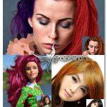 اکشن فتوشاپ تغییر رنگ مو Change Hair Color Photoshop Action