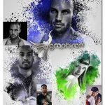 اکشن فتوشاپ اسپلش رنگی روی عکس Colored Splash Photoshop Action
