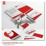 دانلود طرح لایه باز ست اداری تجاری و شرکتی با تم قرمز - شماره 154