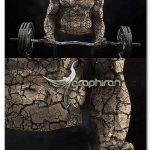 اکشن فتوشاپ افکت گل و لای خشک شده Cracked Mud Photoshop Action