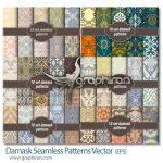 دانلود ۶۰ طرح پترن وکتور سبک عربی Damask Seamless Patterns Vector
