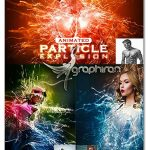 اکشن انفجار ذرات ادامه دار Gif Animated Particle Explosion Photoshop Action