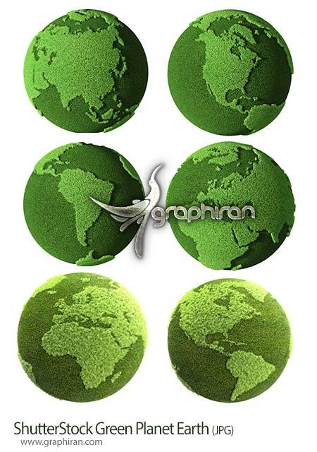 دانلود 6 عکس شاتراستوک کره زمین سبز رنگ