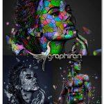 اکشن فتوشاپ ساخت موزاییک های رنگی Mosaic Photoshop Action