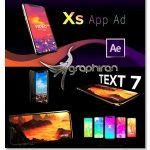 Phone Xs App Ad پروژه افتر افکت تبلیغات اپلیکیشن روی گوشی آیفون XS