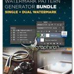 اکشن فتوشاپ ساخت واترمارک روی عکس Watermark Pattern Generator Bundle