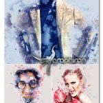 اکشن فتوشاپ افکت هنری ریختن رنگ روی عکس Splattart Photoshop Action