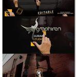 پروژه آماده افتر افکت نمایش متن با دست انسان Titles & Hands+Text