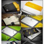 مجموعه 10 طرح لایه باز کارت ویزیت فلت حرفه ای Flat Business Cards Pack