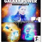 اکشن فتوشاپ افکت قدرت کهکشان Galaxy Power Photoshop Action