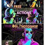 اکشن فتوشاپ افکت پوستر قدیمی 80s Retro Poster Generator For Photoshop