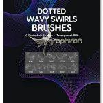 براش فتوشاپ موج های نقطه نقطه Dotted Wavy Swirls Photoshop Brushe