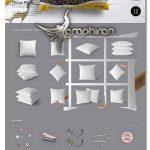 دانلود پک ماک آپ بالش و کوسن Fabric Factory vol.2: Pillow Mockup
